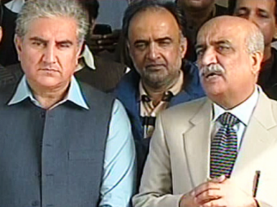 Shah Mehmood Qureshi and Khurshid Shah