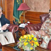 Sindh Governor and DG Rangers Meeting