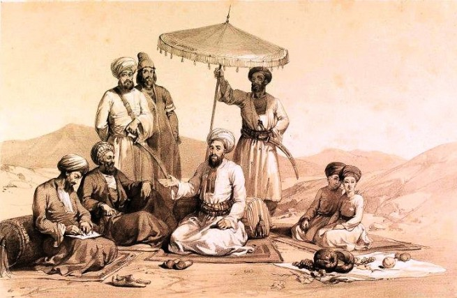 Pir e Roshan with Disciples