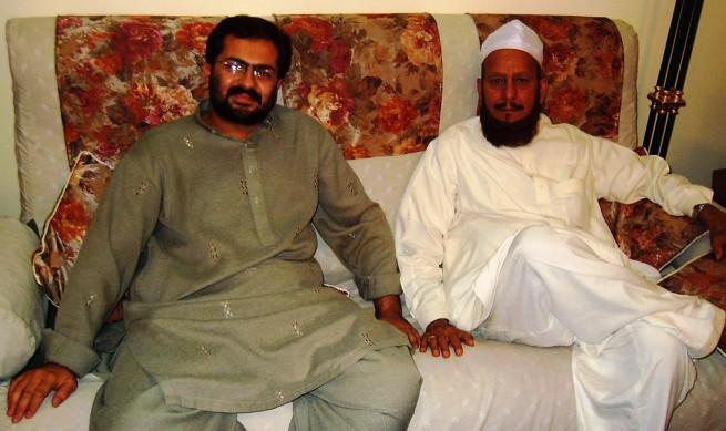 Pir Khezr Hussaen Chishti with Makhdoom Ali Abbas