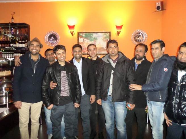 Abdul Mateen with Friends