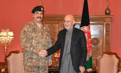 Army Chief and Ashraf Ghani Meeting
