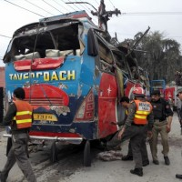 Bomb Blast in Peshawar Secretariat bus