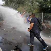 Border Crossing Water Cannon Use