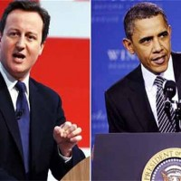 David Cameron and Obama