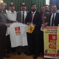 District Bar president with Rotary Members