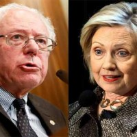Hillary and Bernie Sanders