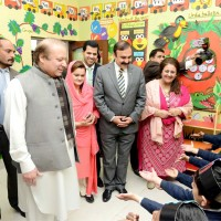 Nawaz Sharif Meet Students