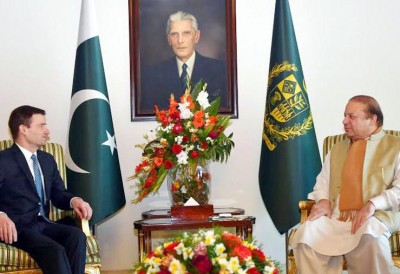 Nawaz Sharif and David Hale