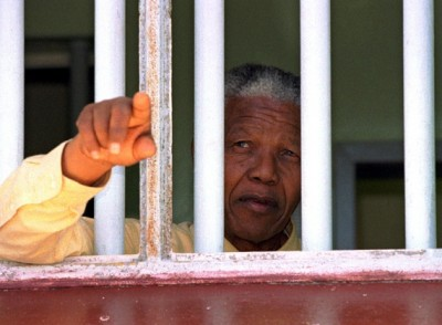 Nelson Mandela was imprisoned