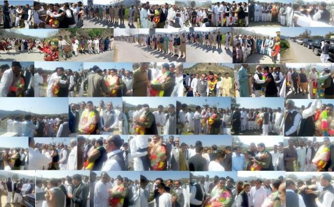 PMLN AJK President midland visited AJK