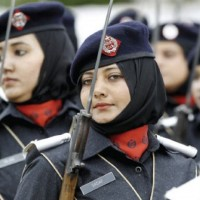 Police Female Officers Passing Out