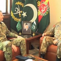 Raheel Sharif and John Nicholson Meeting