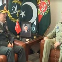 Raheel Sharif and and Turkish Chief of General Staff Meeting