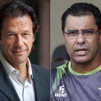 Waqar Younis and Imran Khan