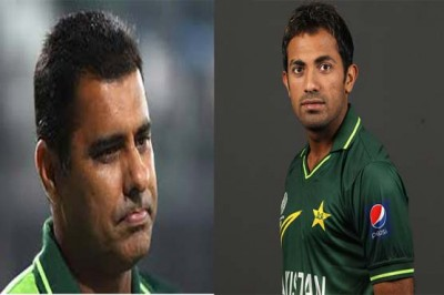 Waqar Younis and Wahab Riaz
