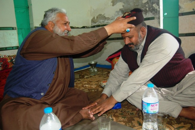 Pir Shabeeh ul Mashadi with Pir Nasir Sultan sahib, Darul Fazl Hafizabad