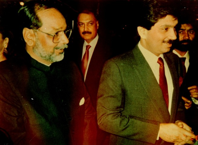 Sahibzada Ijaz Bukhari with Federal Minister of Interior Makhdoom Faisal Saleh Hayat