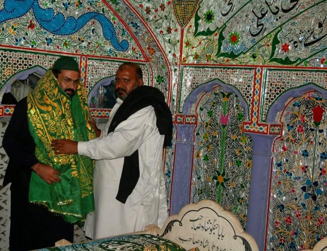 Chadar Poshi of Pir Ali Abbas Shah at Channi Mast by the Gaddi Nasheen