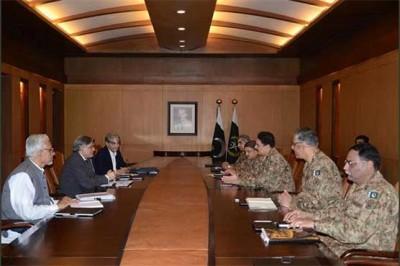 Army  Ishaq Dar meeting
