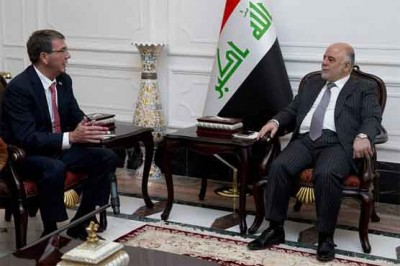 Haider al Abadi and Khaled al Obeidi
