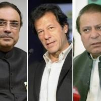Imran Khan, Nawaz Sharif,Asif Ali Zardari
