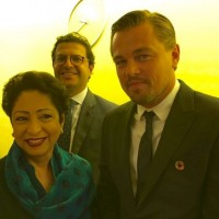 Maleeha Lodhi with Leonardo DiCaprio