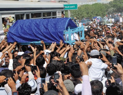 Moin Akhtar Funeral