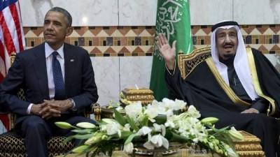 Obama and Salman bin abdul Aziz