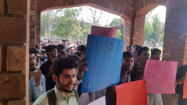 PU Hailey College of Commerce Fees Increase Against Protests