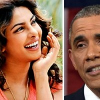 Priyanka Chopra and Barack Obama