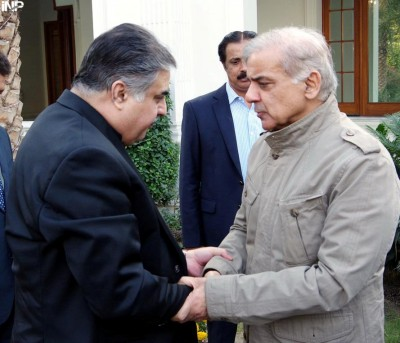 Shahbaz Sharif and Sana Ullah Zehri