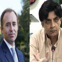 Chaudhry Nisar met Drew Thomas