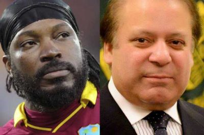 Chris Gayle and Nawaz Sharif