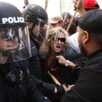 Donald Trump Protestors Clash