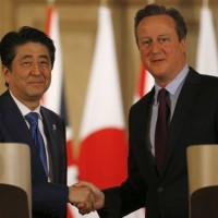 Japanese Prime Minister and David Cameron
