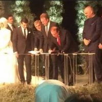 Nawaz Sharif Signing as a Witness