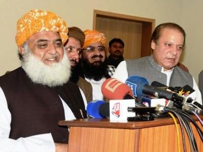 Nawaz Sharif and Maulana Fazlur Rehman