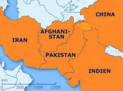 Pakistan, Afghanistan, India, Iran and China