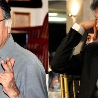 Pervaiz Rasheed and Imran Khan