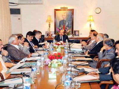 Sindh cabinet meeting