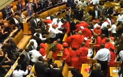 South Africa,Parliament Commotion