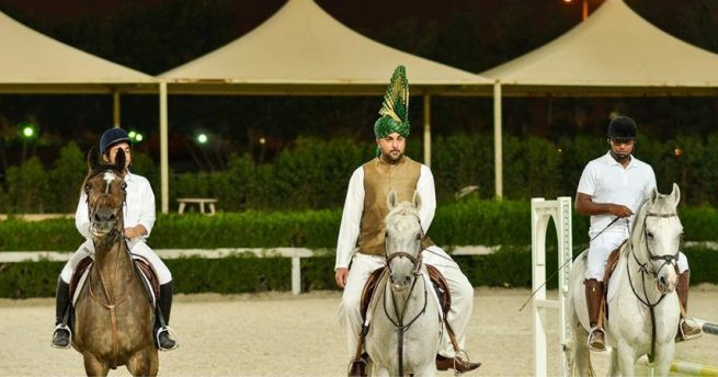 A group of Horse Riders led by Sarhan Mustafa