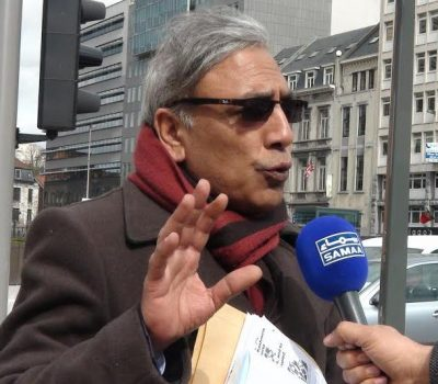Al iRaza Syed Brussels Protest Thanks