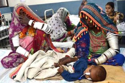 Children died in Thar