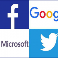 Facebook, Microsoft, Google, Twitter,