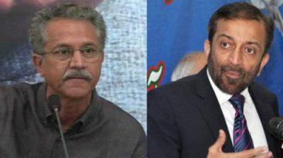 Farooq Sattar and Wasim Akhtar