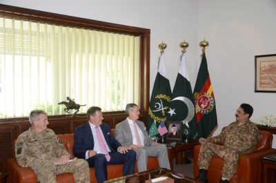John Nicholson, Richard Olson and Raheel Sharif