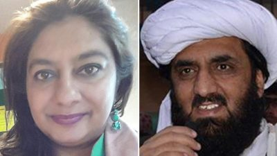 Marvi Sirmed and Hafiz Hamdullah