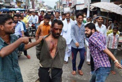 Muslim man Badly Beaten